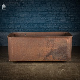 Large 19th C Cast Iron Riveted Water Trough by Ralph Yates, Malton