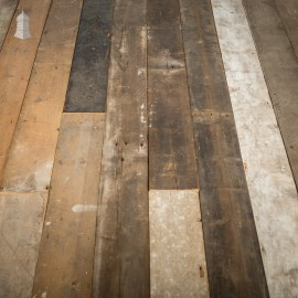Batch of 22 Square Metres of 6.5 Inch Wide 19th C Pine Floorboards