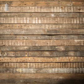 Batch of 40 Square Metres of Narrow Pine Strip Wall Cladding Cut from Victorian Joists with Lath and Plaster Marks