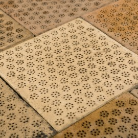 Reclaimed 12 x 12 Inch Clay Malting Tiles Floor Tiles