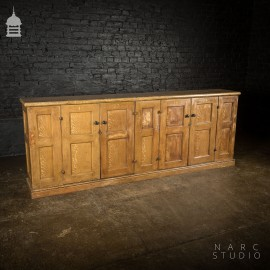 NARC Studio Scumble Glazed 'Ebenezer Sideboard' Built From Pew Components Dated 1868