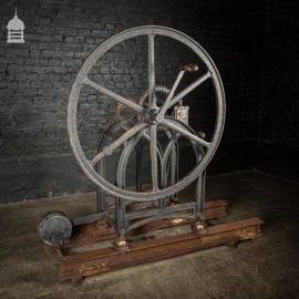Large Scale 19th C Hand Operated Well Water Pump with Counter Balance