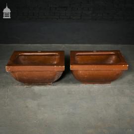 Pair of Salt Glazed Troughs by 'OATES & GREEN LTD' of Halifax