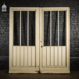 Pair of Victorian Glazed Pine External Double Doors