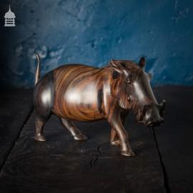 Vintage Fine Carved Rosewood Warthog