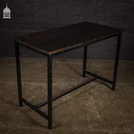 Steel Framed School Table Lab Desk with Painted Mahogany Top – 25 Available
