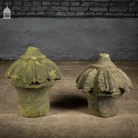 Pair of Carved Georgian Sandstone Pier Cap Finials