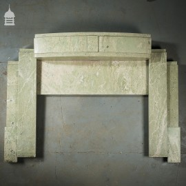 Pair of Art Deco Green Marble Firesurrounds