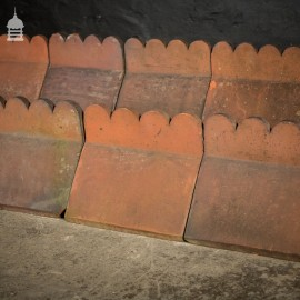 Batch of 20 Red Decorative Top Ridge Tiles Run of 6 Metres