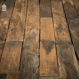 Batch of Short Length Norfolk Broads Black Bog Oak Floor Board Wall Cladding 8.5 Square Metres