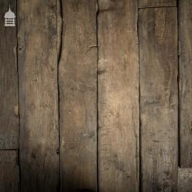 25 Square Metre Batch of Mixed Length & Width Norfolk Broads Black Bog Oak Floor Board Wall Cladding