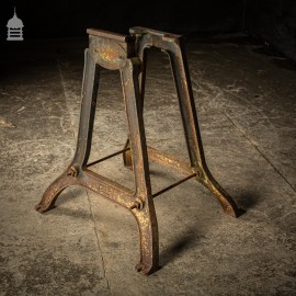 Bygone Cast Iron Industrial Machine Base Stand