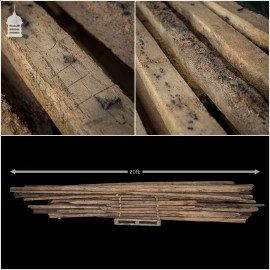 Batch of Original Extra Long 16th C Oak Barn Roof Purlins