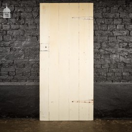 19th C Pine Internal Ledged and Braced Cottage Door