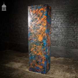 1940's Metal WWII Military Cabinet with NARC Studio Abstract Painted Finish No. 2