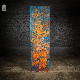 1940's Metal WWII Military Cabinet with NARC Studio Abstract Painted Finish No. 3