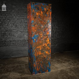 1940's Metal WWII Military Cabinet with Abstract Painted Finish No. 4