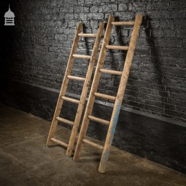 Pair of 19th C Kitchen Pantry Ladders