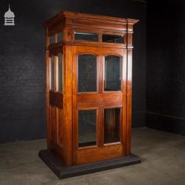 Impressive 19th Century Mahogany Vestibule Complete with Original Cut Glass