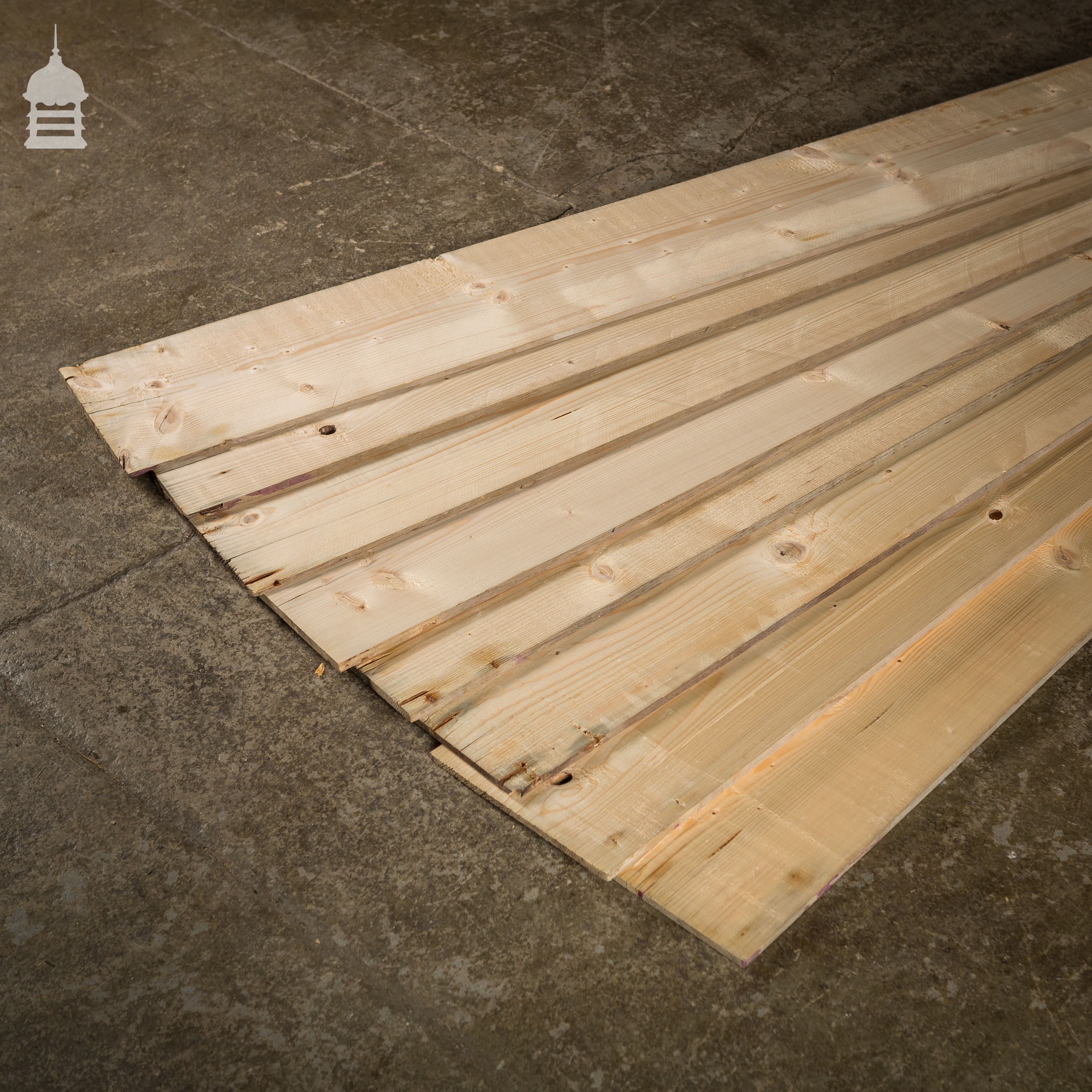 Thin Reclaimed Pine Boards 10mm Furniture Backing Wall Cladding