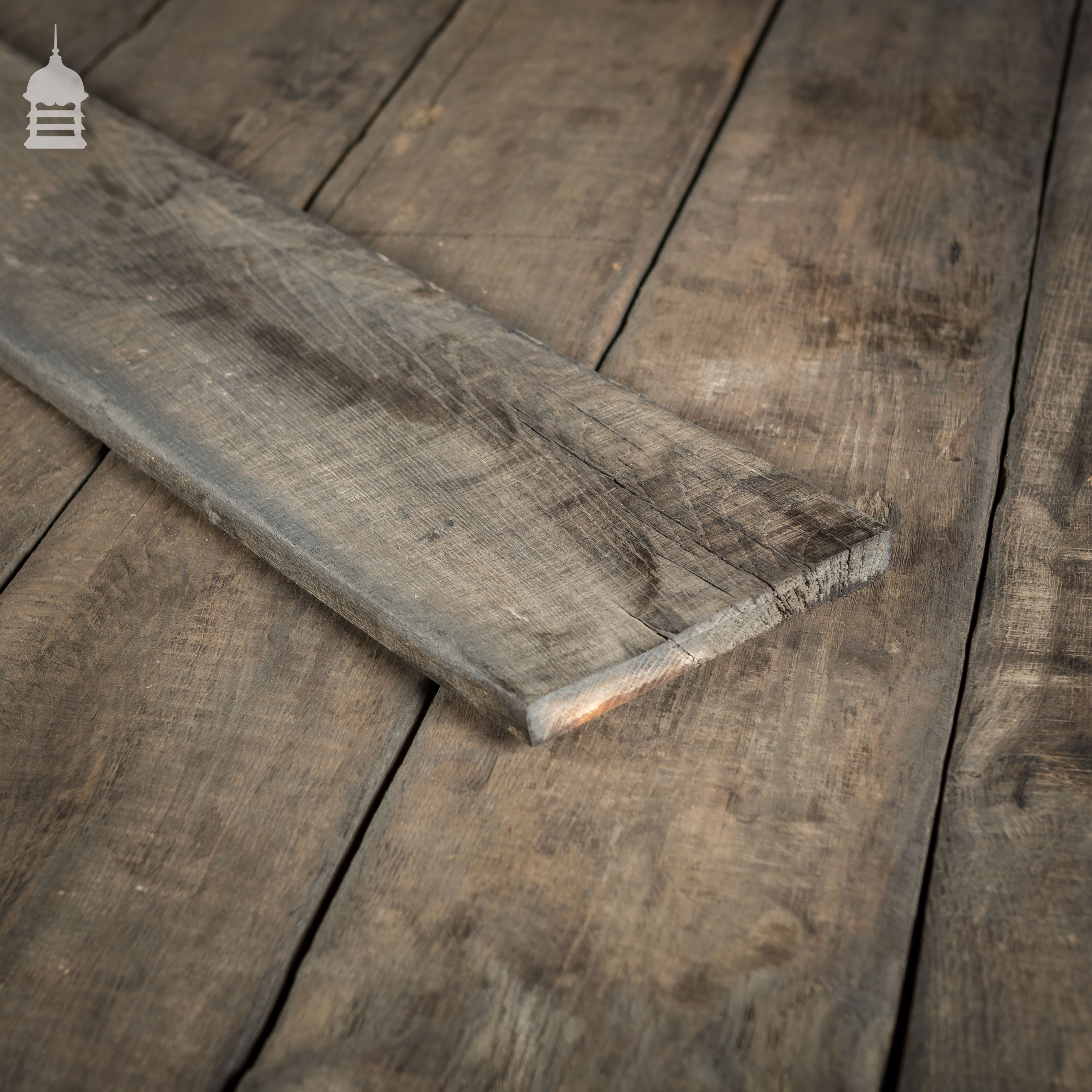 Reclaimed Norfolk Broads Black Bog Oak Floor Boards Wall