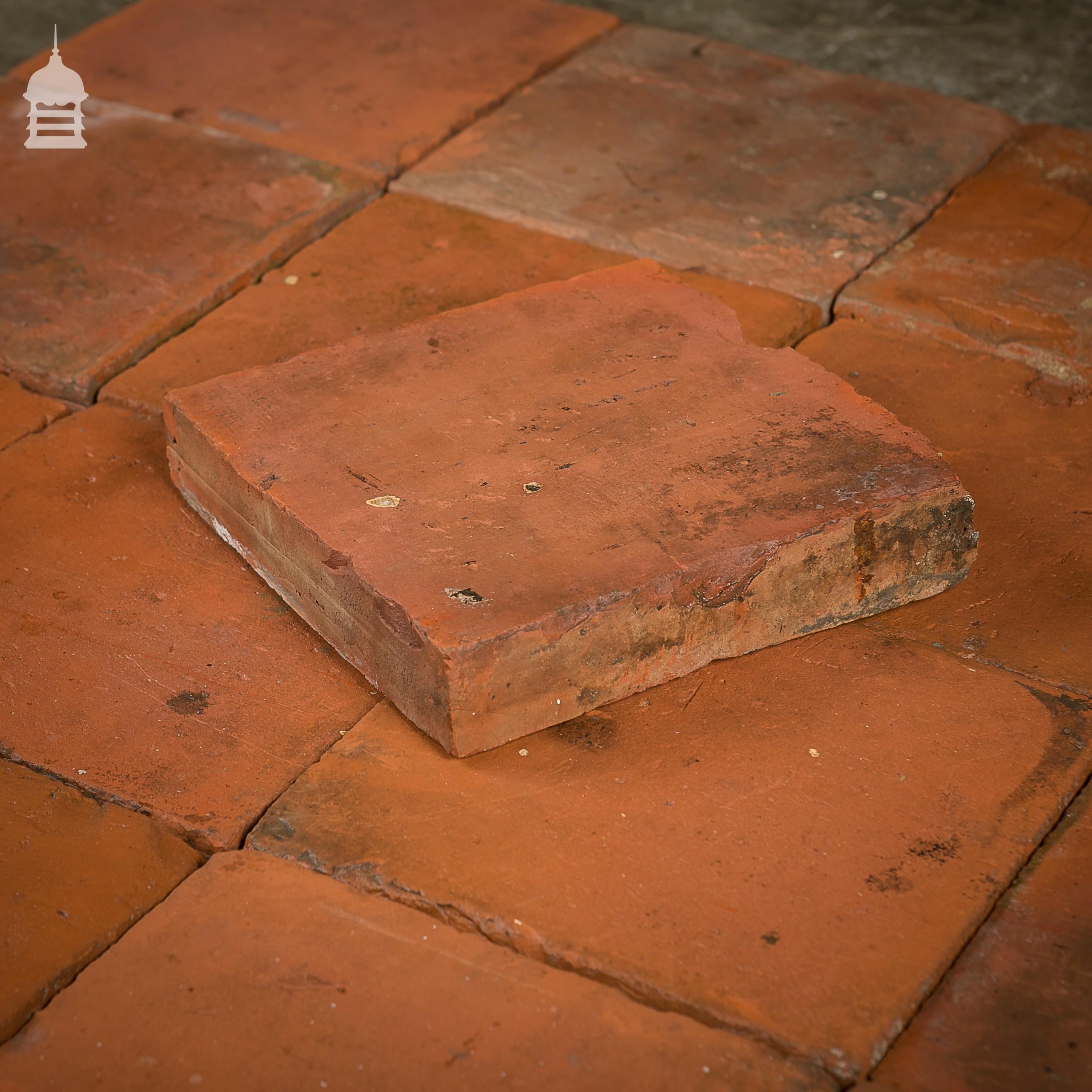 Reclaimed 9 Inch X 9 Inch Red Quarry Tiles 9x9 Floor Tiles