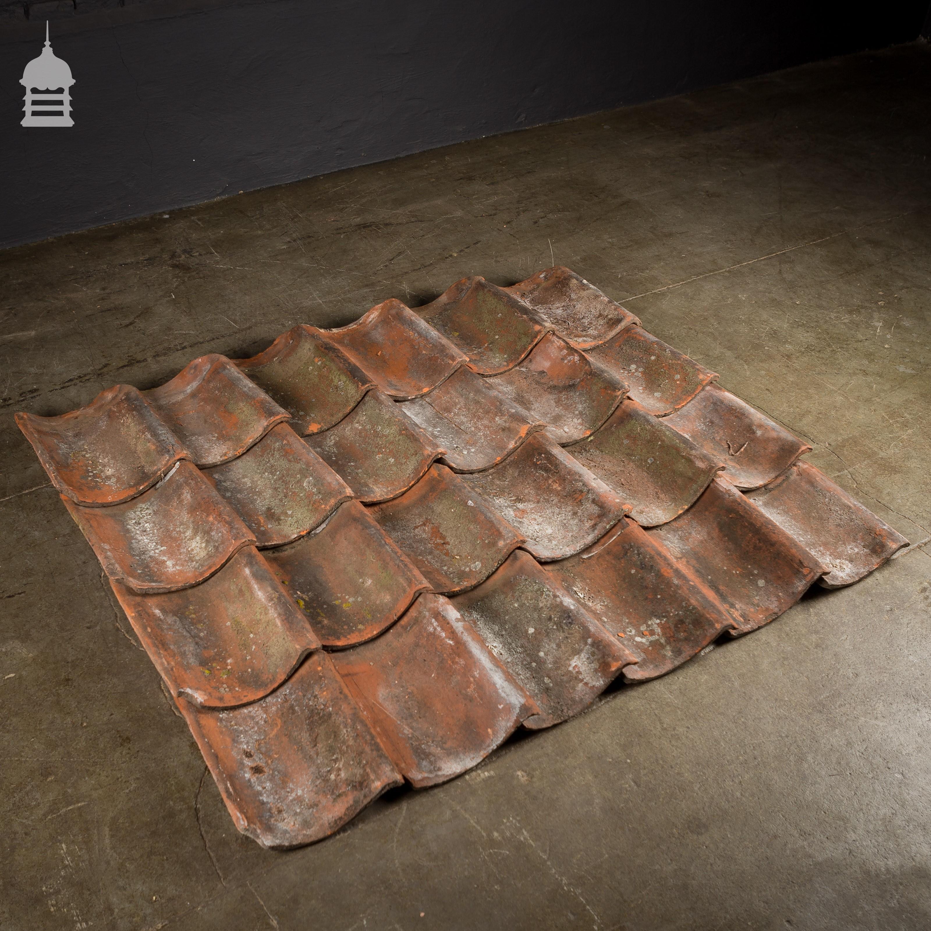 Reclaimed Red Hand Made Norfolk Pan Tiles Pantiles