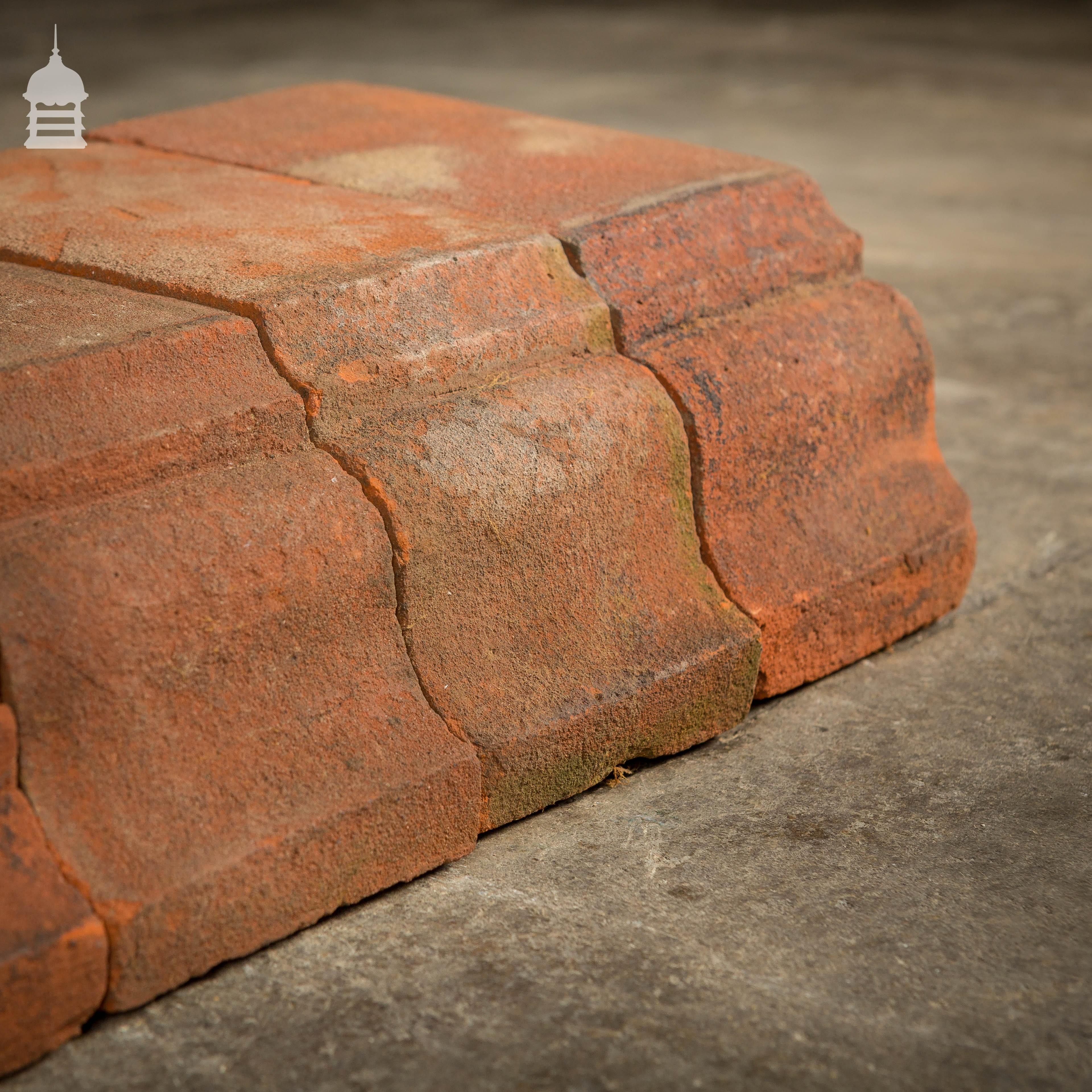 Batch Of 136 Reclaimed Red Corbel Header Brick Specials