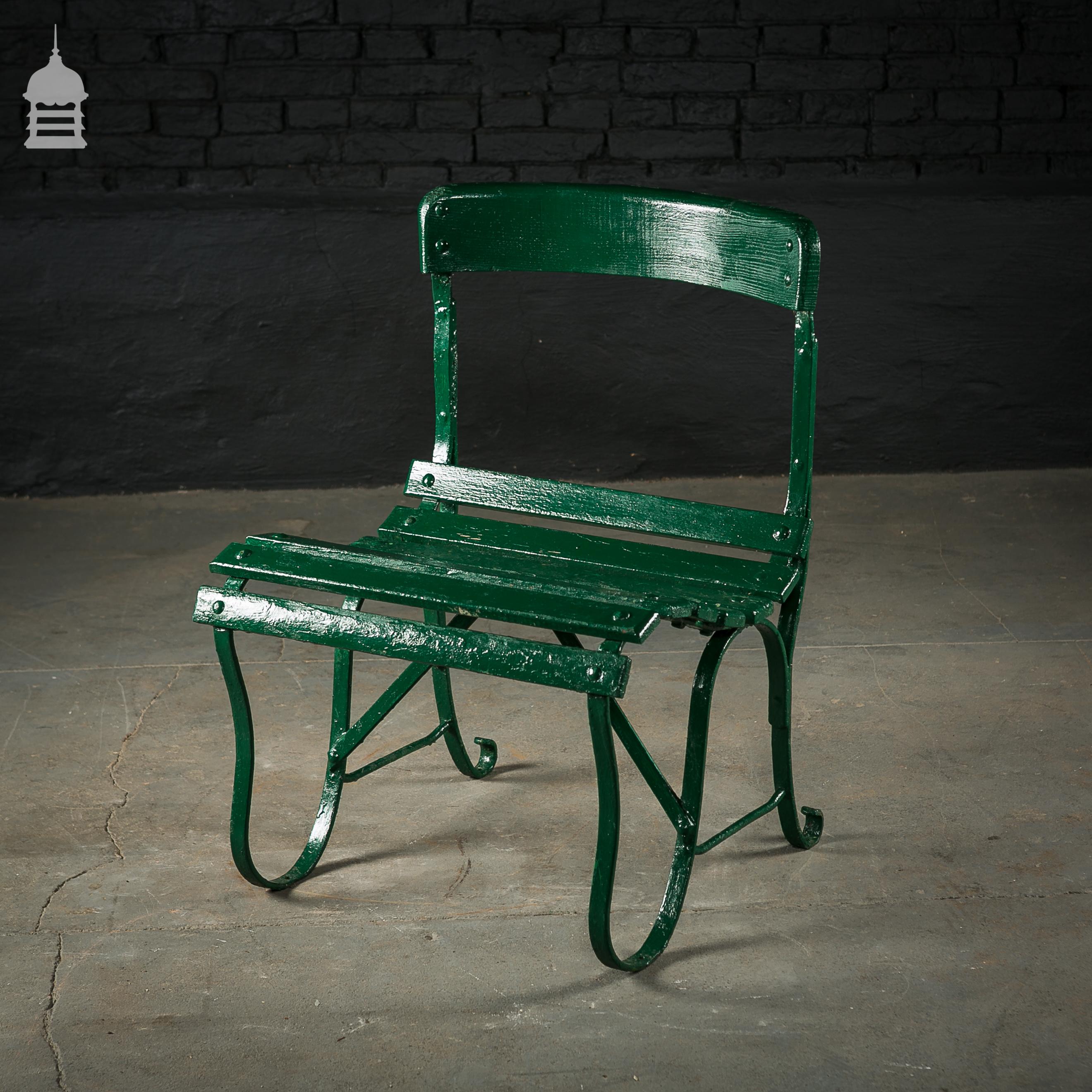 4 Wrought Iron Garden Chairs with Hardwood Slats 3