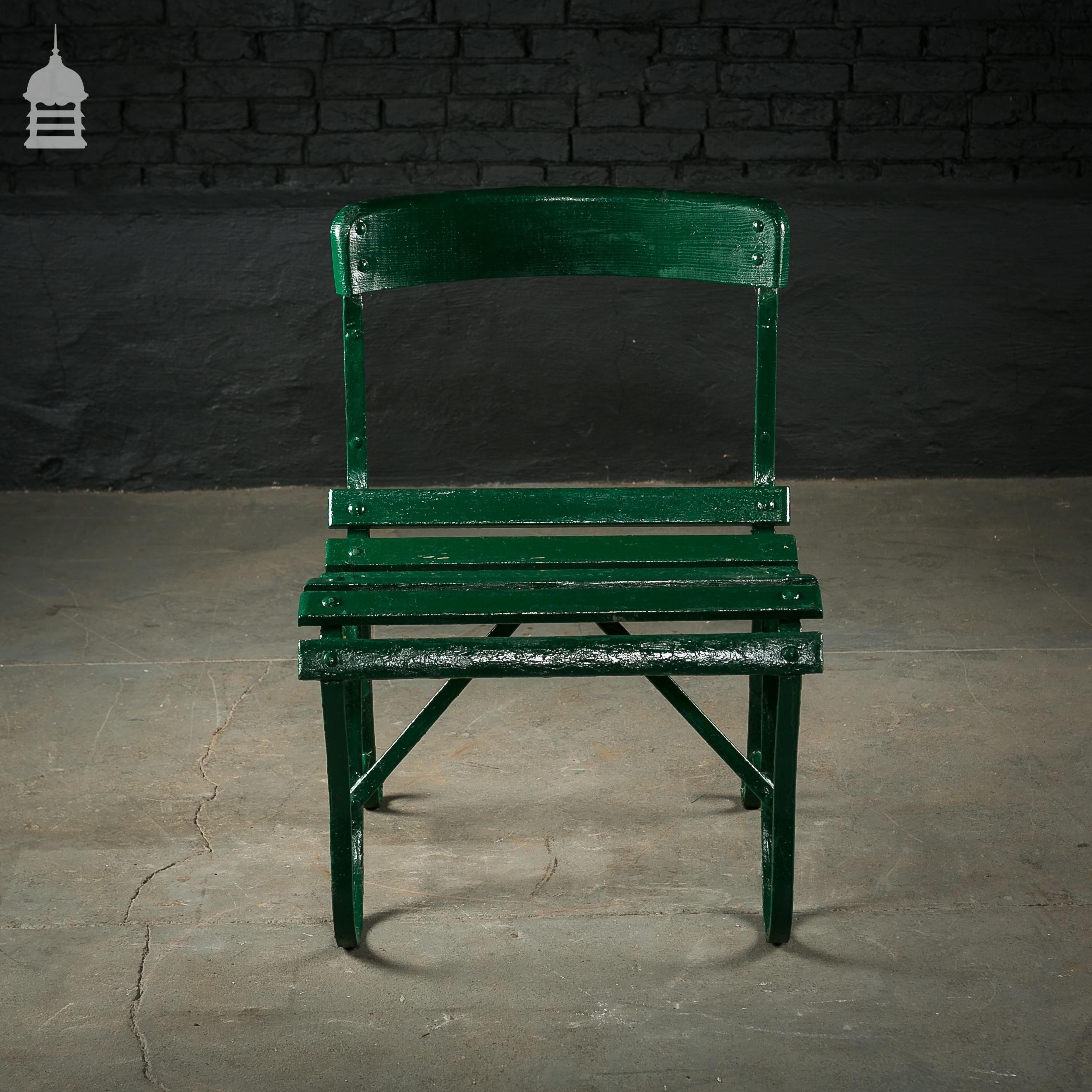 4 Wrought Iron Garden Chairs with Hardwood Slats 4