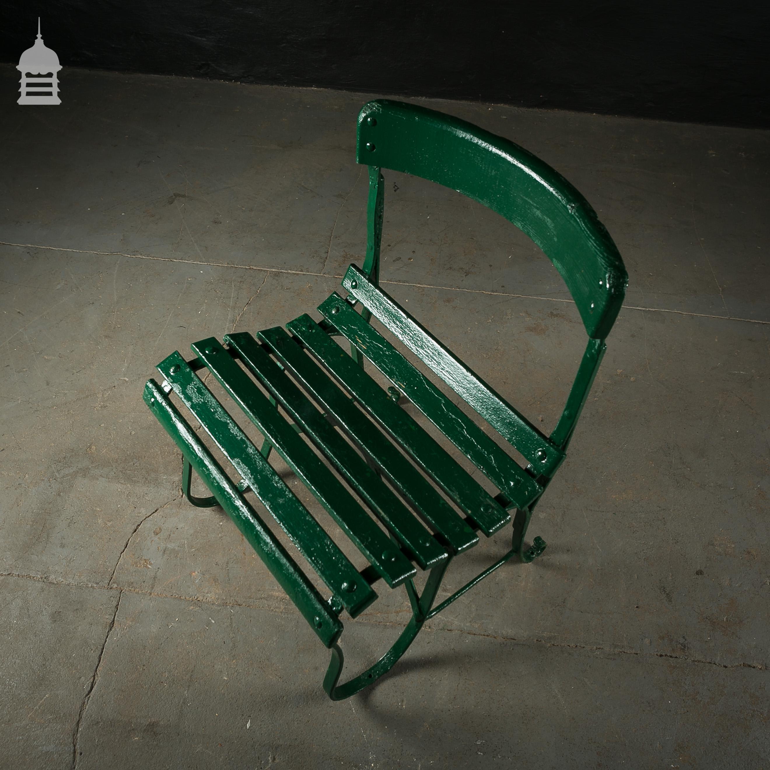 4 Wrought Iron Garden Chairs with Hardwood Slats 5